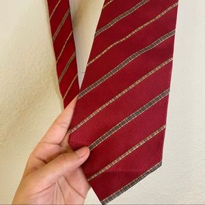 Burberry 100% Silk Red With Classic Check